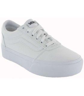 Vans Ward Platform White Vans Shoes Women's Casual Lifestyle Sizes: 37, 38, 39, 40; Color: white