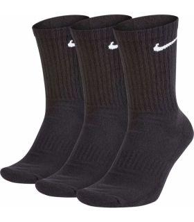 Nike Chaussettes De Tous Les Jours Semelle Noire Chaussettes Nike Chaussures De Course Running Tailles: 34 / 38, 38 / 42, 42 /