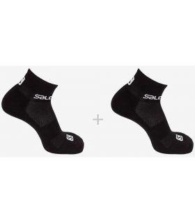 Salomon Chaussettes Évasion Pack De 2 Noir Salomon Chaussettes De Chaussures De Course Running Tailles: 36 / 38, 39 / 41, 42 /