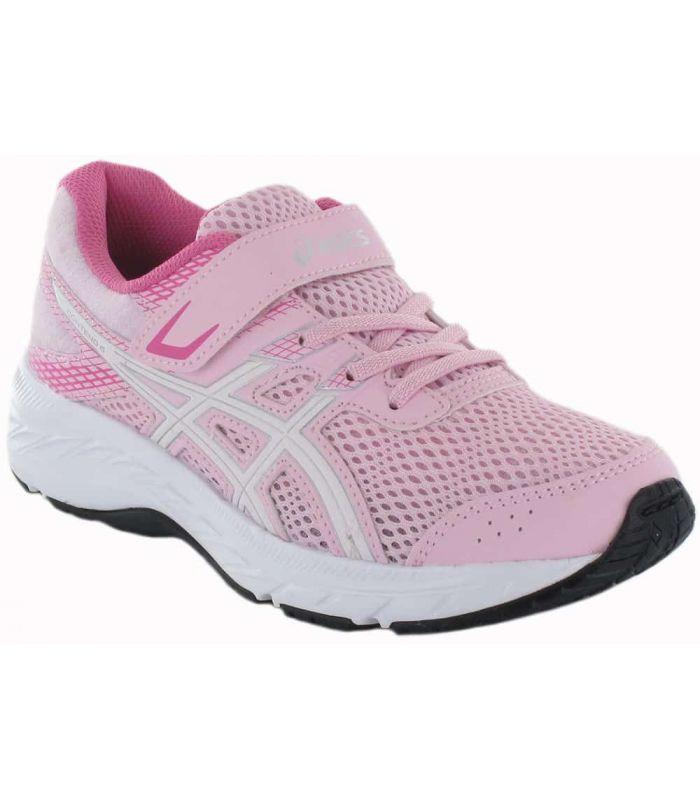 Asics Gel Contend 6 PS Rose Asics Chaussures de Running Enfant Chaussures de course Running Tailles: 28,5, 30, 31,5, 32,5, 33,