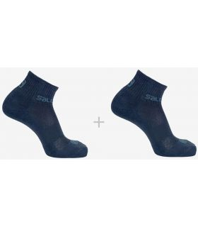 Salomon Chaussettes Évasion Pack De 2 Bleu Marine Salomon Chaussettes De Chaussures De Course Running Tailles: 39 / 41, 42 / 44;