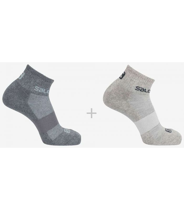 Salomon Socks Evasion 2 Pack Grey Salomon Socks Running Shoes Running Sizes: 36 / 38, 39 / 41, 42 / 44;