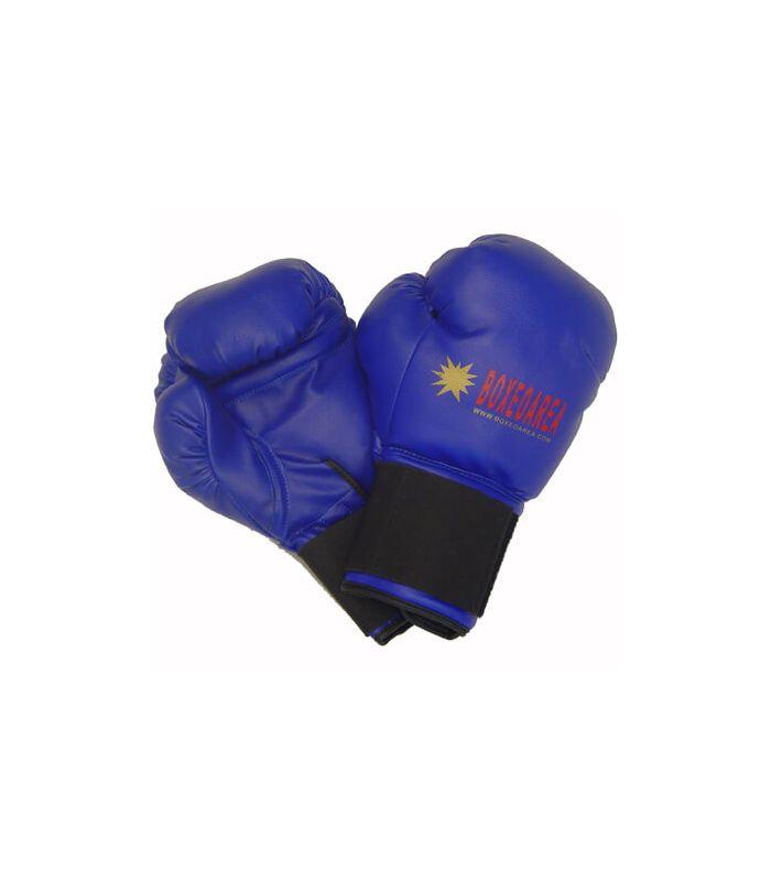 Gants de boxe BoxeoArea 1805 en Cuir Bleu - gants de boxe