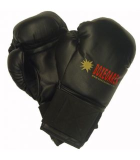 Boxing gloves BoxeoArea 1806 Black Leather - Boxing gloves