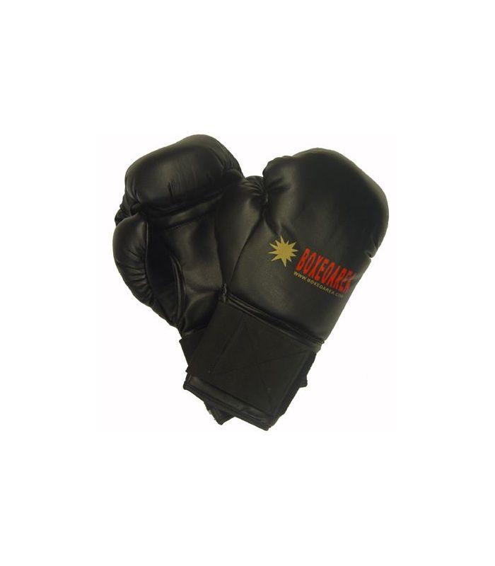 Gants de boxe BoxeoArea 1806 en Cuir Noir - gants de boxe