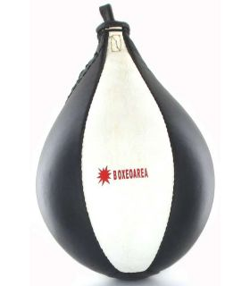 BoxeoArea Poire de Boxe en Cuir Blanc BoxeoArea de Punching - Poire de Boxe, Couleur: blanc