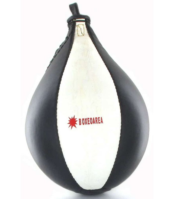 BoxeoArea Pear Boxing White Leather - Punching-Pera