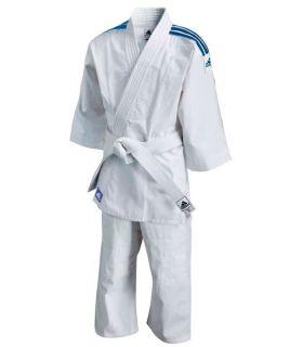 Kimono Judo-Adidas Kimono Judo J180 Junior Blanc Judo