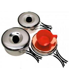 Fox Kid Cazuelas Fox Platos, cubiertos, vasos Cocina Color: gris