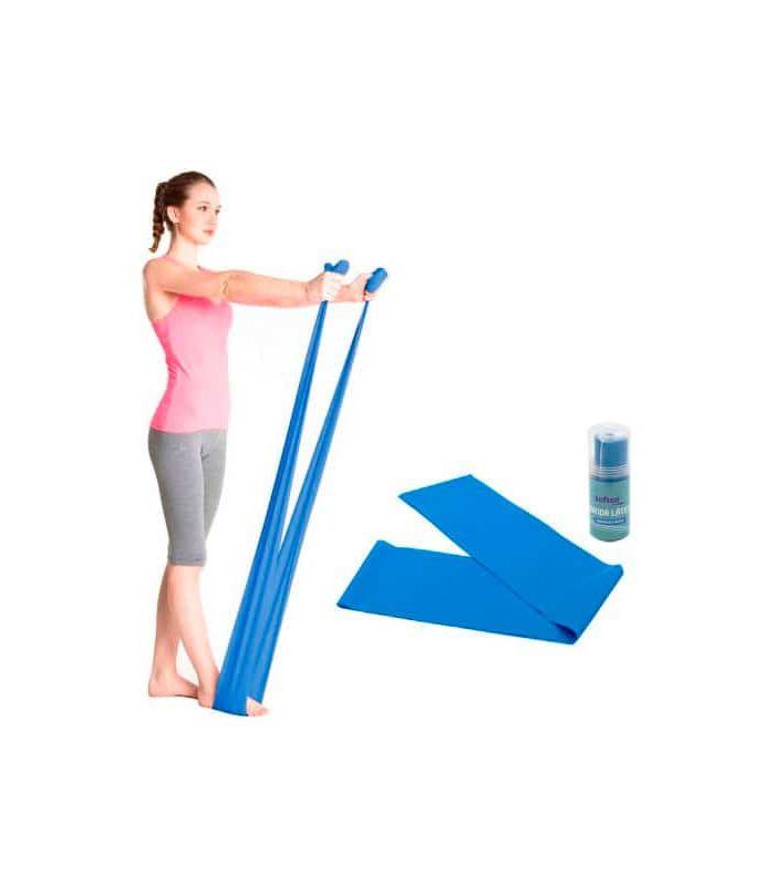 Accesorios Fitness - Softee Banda Latex Densidad Media 1,5m azul Fitness