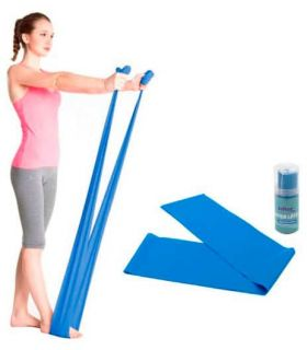 Accesorios Fitness - Softee Banda Latex Densidad Fuerte 1,5m amarillo Fitness