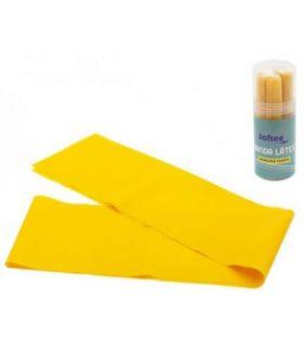 Softee Bande de Latex de Densité Forte de 1,5 m Softee Accessoires de Fitness de Fitness Couleur: jaune