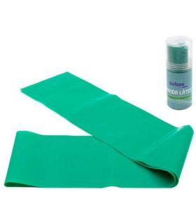 Accesorios Fitness - Softee Banda Latex Densidad Extrafuerte 1,5m verde Fitness