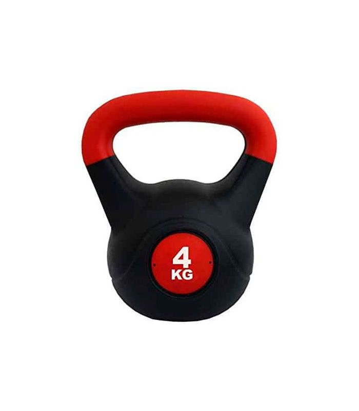 Kettlebell PVC 4 Kg Softee Weights - Ankle Dogged Fitness Color: black