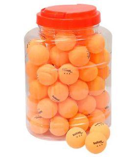 Juego 60 Pelotas Tenis de Mesa 3 Estrellas Naranja Softee Pelotas Ping Pong Tenis Mesa Color: naranja