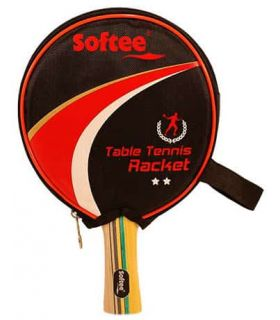 Pelle de Ping-Pong P300 Softee Lames de Tennis de Table de Tennis de Table Couleur: rouge