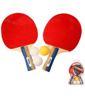 Kit Ping Pong Dynamic Softee Palas Tenis Mesa Tenis Mesa Color: rojo