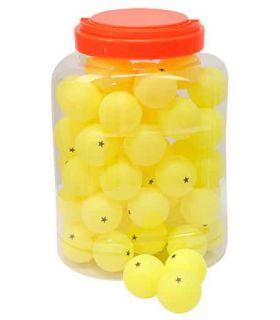 Juego 60 Pelotas Tenis de Mesa 1 Estrellas Amarillo Softee Pelotas Ping Pong Tenis Mesa Color: amarillo