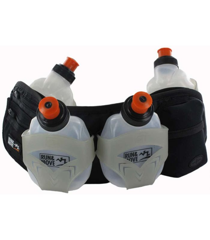 Depósitos de Hidratación - Run&Move Flask Belt Trail 2.0 negro Hidratación Trail Running