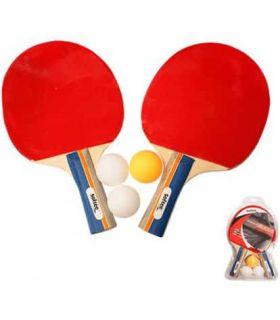 Palas Tenis Mesa - Set Ping Pong Deluxe rojo Tenis Mesa