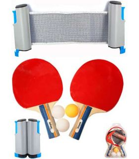 Set Ping Pong Deluxe Van Allen Palas Tenis Mesa Tenis Mesa Color: rojo