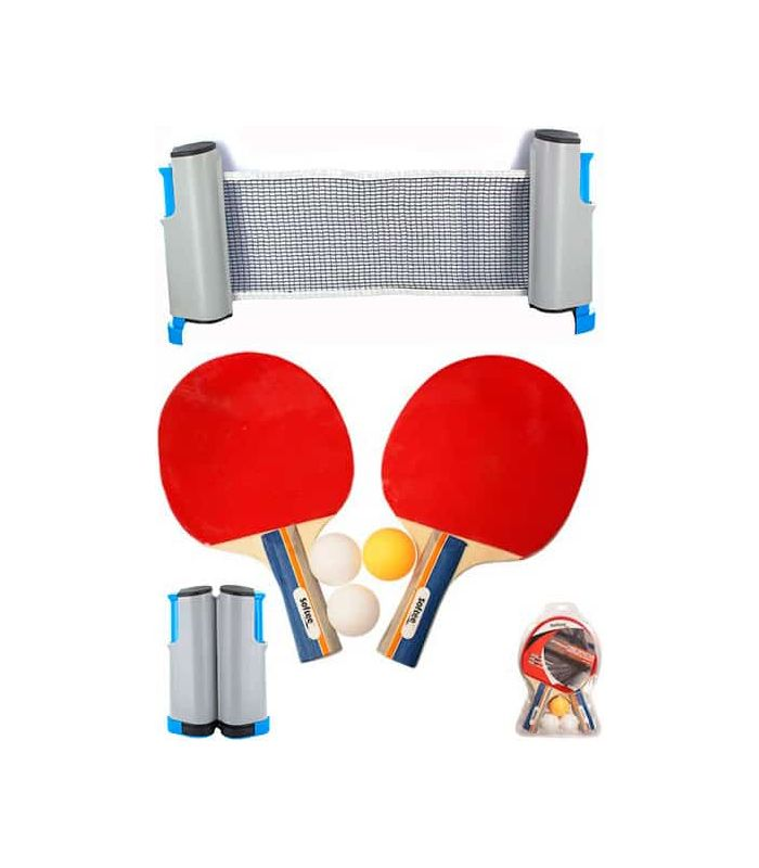 Paddles Table Tennis-Set Ping Pong Deluxe Red Tennis Table