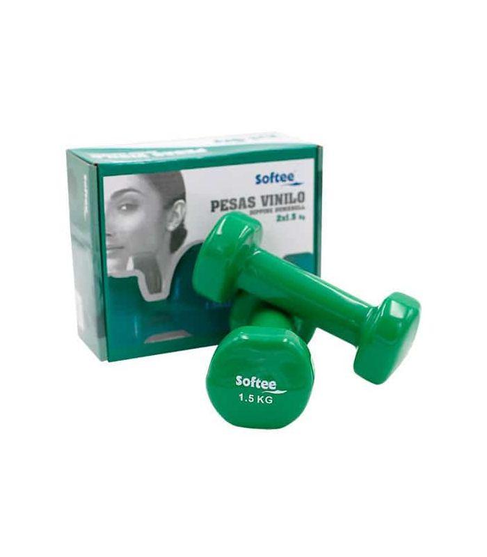 Poids Vinillo 2x1,5 Kg Softee Poids de la Cheville Inébranlable de Fitness Couleur: vert