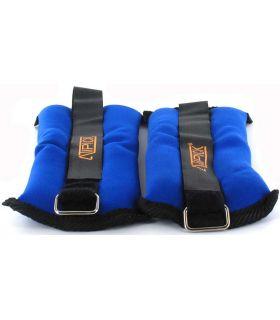 Tobilleras Muñequeras Lastradas 2x0,4 Kg Azul Atipick Pesas - Tobilleras Lastradas Fitness Color: azul