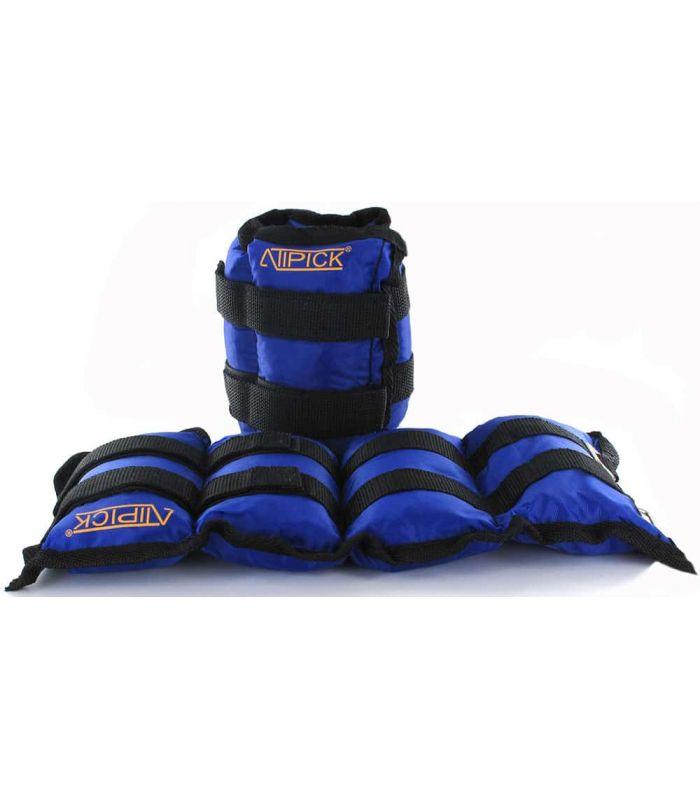 Pesas - Tobilleras Lastradas - Tobillera lastrada nylon 2x2,25 Kg azul Fitness