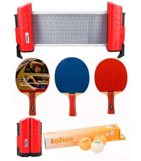 Super Jeu de Tennis Rouge / Orange Softee Lames de Tennis de Table de Tennis de Table Couleur: rouge