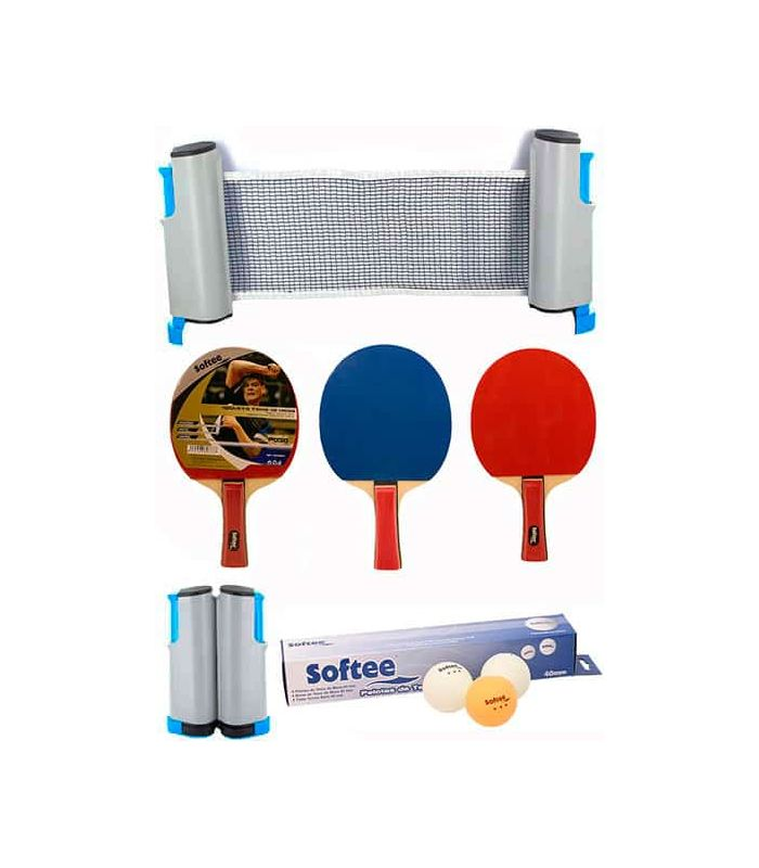 Super Set Tennis White Softee Blades Tennis Table Tennis Table Color: red