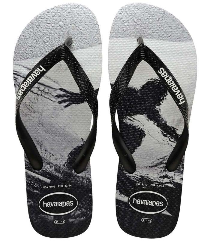 Tienda Sandalias / Chancletas Hombre - Havaianas Top Photoprint Surf negro Sandalias / Chancletas