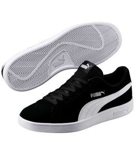 Puma Smash v2 Black Puma Shoes Casual Man Lifestyle Sizes: 41, 45, 46; Color: black