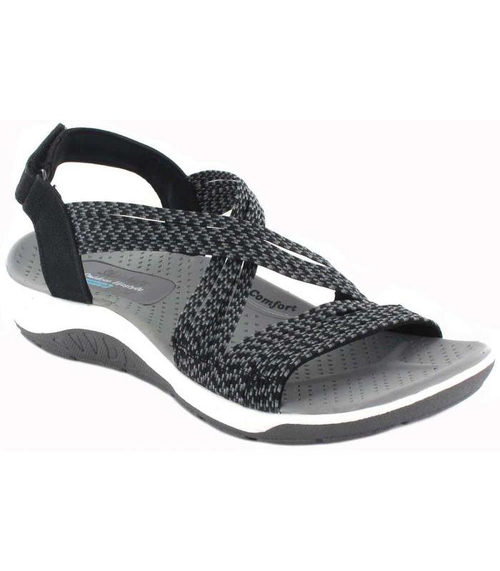 Tienda Sandalias / Chancletas Mujer - Skechers Snap negro Sandalias / Chancletas