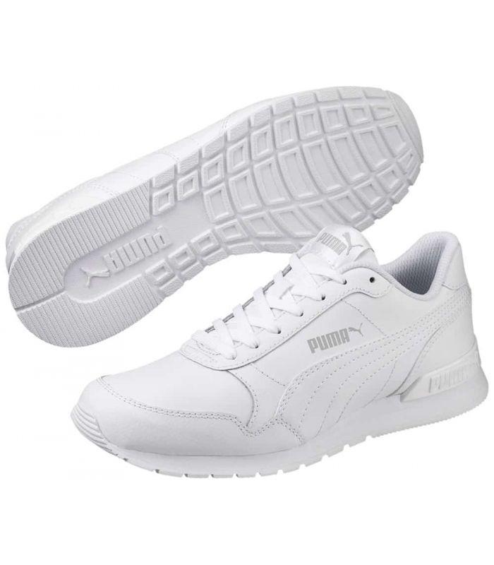 Puma ST Runner v2 L Jr de Puma Chaussures sport style de Vie Junior Tailles: 37, 37,5, 38, 38,5, 39; Couleur: blanc