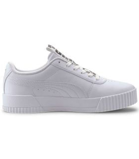 Puma Carina Bold White Puma Shoe Women's Casual Lifestyle Sizes: 36, 37, 37,5, 38, 38,5, 39, 40; Color: white