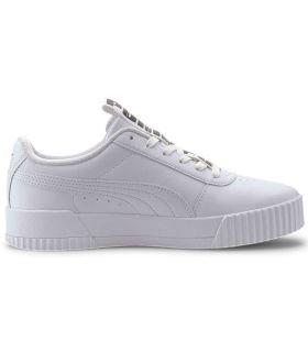 Puma Carina Gras Blanc Puma Chaussures de Femmes de mode de Vie Décontracté Tailles: 36, 37, 37,5, 38, 38,5, 39, 40; Couleur: