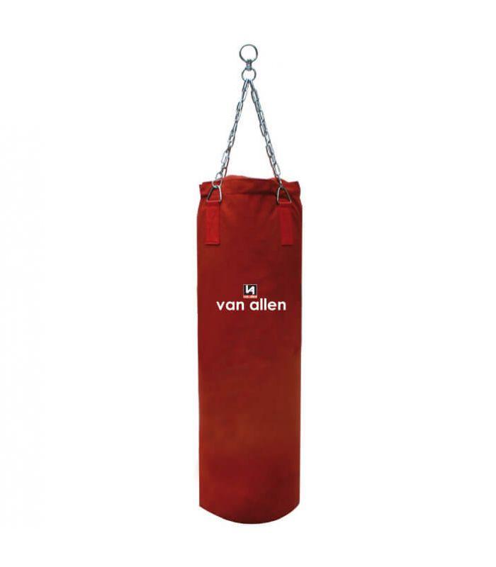 Saco Lona Boxeo Grande Rojo