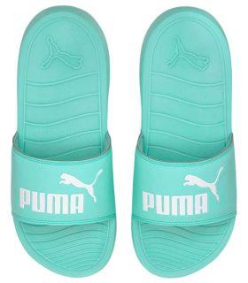 Puma Chanclas Popcat 20 Verde Puma Tienda Sandalias / Chancletas Mujer Sandalias / Chancletas