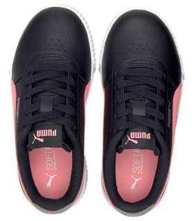 Puma Carina Jr Negro Puma Calzado Casual Junior Lifestyle Tallas: 30, 31, 32, 33, 34, 35; Color: negro
