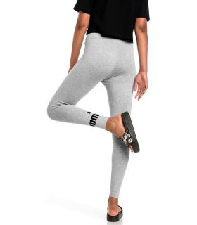 Puma Essentials Logo Leggings Gray Puma Mesh running Textile Running Sizes: xs, s, m, l; Color: grey