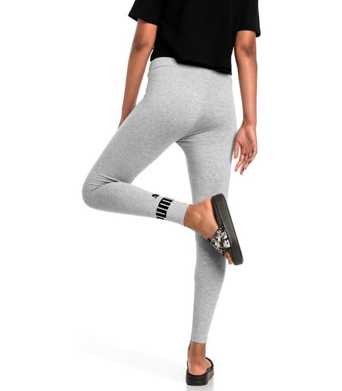 Puma Essentials Logo Leggings Gris Puma Mallas running Textil Running Tallas: xs, s, m, l; Color: gris