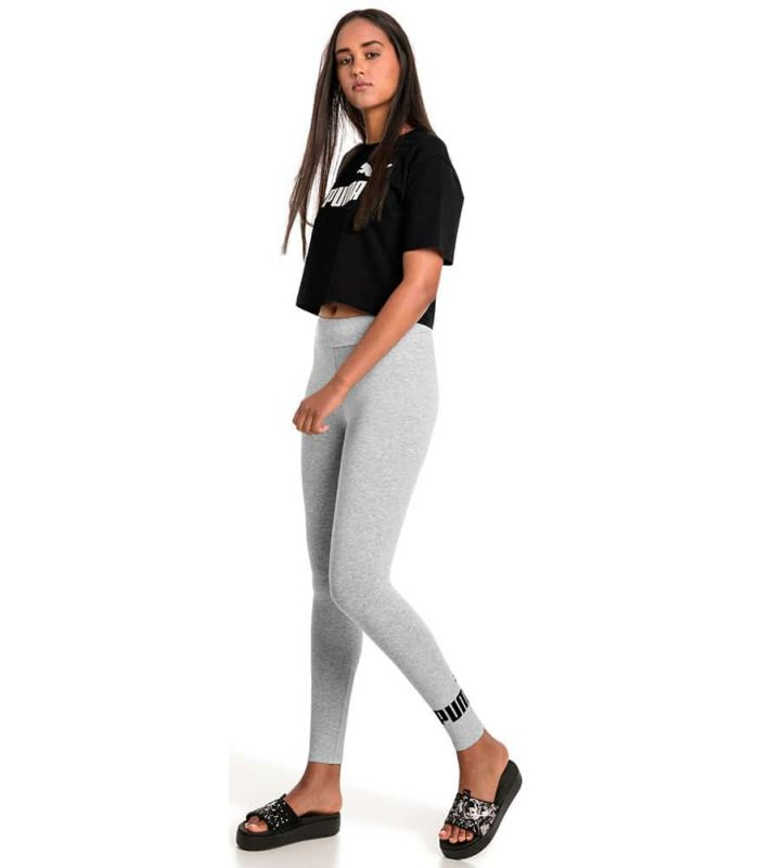 Puma Essentials Logo Leggings Gray Puma Mesh running Textile Running Sizes: xs, s, m, l; Color: grey