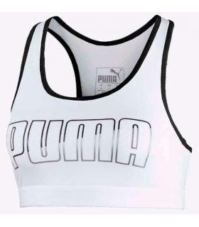 Mallas running - Puma Sujetador deportivo 4Keeps Mid Impact Blanco blanco Textil Running
