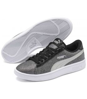 Puma Smash v2 Glitz Glam Puma Casual Footwear Lifestyle Junior Sizes: 36, 37, 38, 39; Color: gray