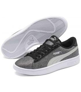 Puma Smash v2 Paillettes Glam Puma Chaussures sport style de Vie Junior Tailles: 36, 37, 38, 39; Couleur: gris