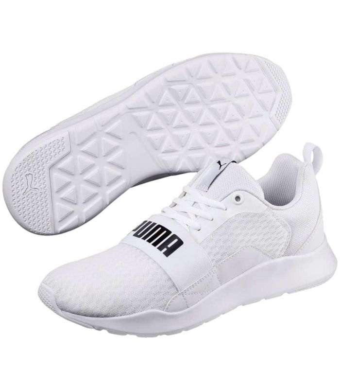 Puma Wired White Puma Shoes Casual Man Lifestyle Sizes: 40, 41, 42, 43, 44, 45, 46, 47; Color: white