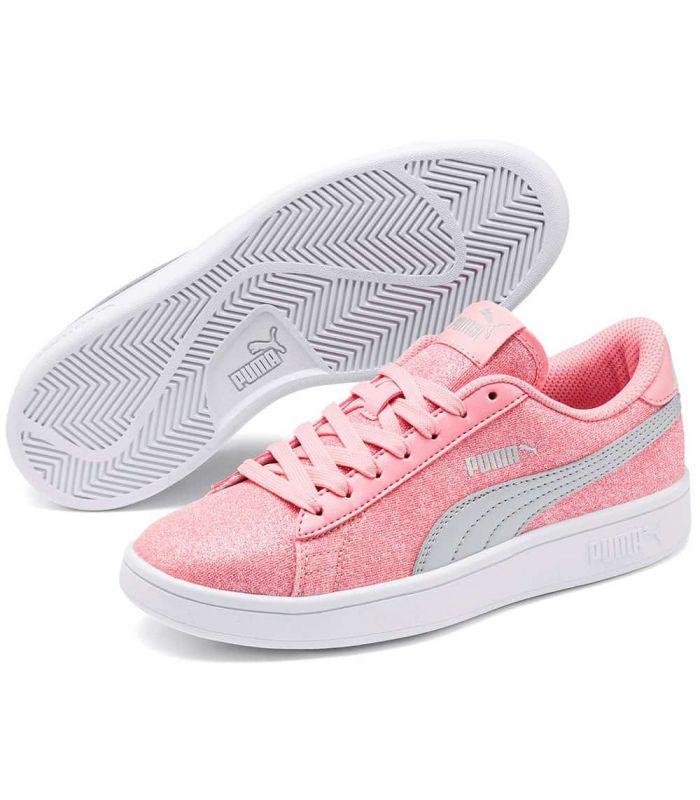 Puma Smash v2 Paillettes Glam Rose Puma Chaussures sport style de Vie Junior Tailles: 36, 37, 38, 39; Couleur: rose