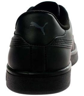 Puma Smash v2 Leather Negro Puma Calzado Casual Hombre Lifestyle Tallas: 41, 42, 42,5, 43, 44, 44,5, 45, 46; Color: