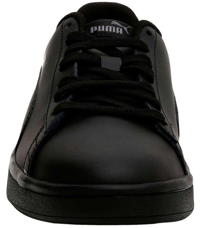 Puma Smash v2 Leather Negro - Calzado Casual Hombre